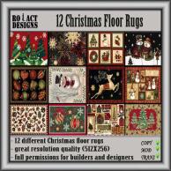 Christmas Rug Textures Poster