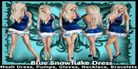 K Blue Snowflake Dress