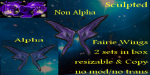 _ACF_ 2 sculpted Fairie Wings sets, alpha & non alpha..