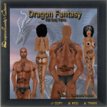 Dragon Fantasy Full Body Tattoo_t